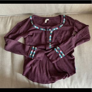 Free People Henley Top XS